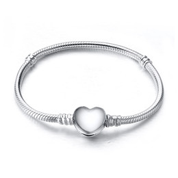Wholesale New Arrival Charm Bangle Sterling Silver Bracelet Fit European Charms Beads CM Length Fashion DIY Jewelry