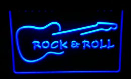 LS194-b Rock and Roll Guitar Music Neon Light Sign