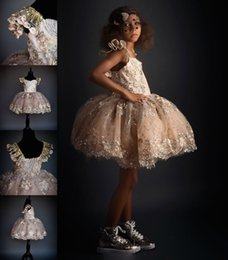 Meilleur manches courtes manches en Ligne-Robes Pageant Applique Vintage Court Paillettes Little Girl Cap Sleeve 2016 Flower Girl Dress For Weddings Best Selling Teens Prom Robes