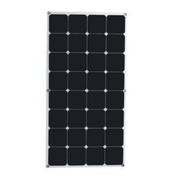 Высокая скорость преобразования и высокая производительность эффективность 18V 100W монокристаллический панели солнечных батарей Semi гибкий поделки солнечный модуль для лодки RV от Поставщики flexible solar panel