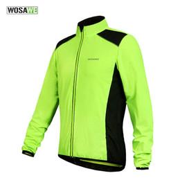Promotion vélo vélo veste de manteau de pluie WOSAWE Hommes Femmes Cyclisme Veste Imperméable Bike Rain Coat Vélo Windproof Jersey sports vert