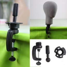 Wholesale Dreambeauty Black Wig Stand Clamp High Quality Manikin Head Wig Holder Clamp for Wig Head