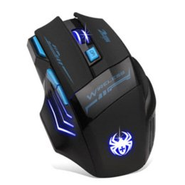 Mecall Adjustable 2400DPI Optical Wireless Gaming Game Mouse For Laptop PC Cheap mouse pad game