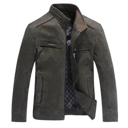 men's jackets Spring and Autumn 2016 new brand man middle-aged men washed cotton jacket and male coat