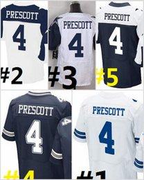 Wholesale NIK Elite Football Stitched Draft Cowbboys DAK PRESCOTT White Blue Thanksgiving Throwback Jerseys Mix Order