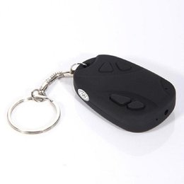 Wholesale 100 Brand new with high quality Mini Hidden Car Key Digital Camera HD P Support TF Card