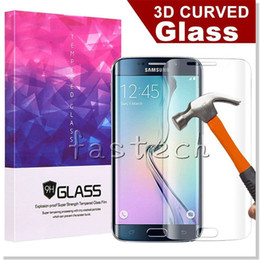 0.2MM S7 Edge 3D curve Screen Protector Tempered glass Full Cover Curved Glass 9H Hardness With Retailbox For S7 Edge Plus With retail box