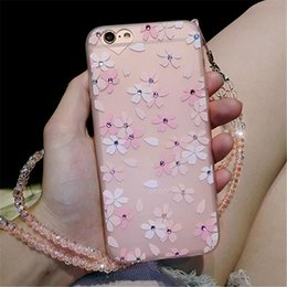 Flowers Daisy Cell Phone Cases Elegant Design Phone Covers without Ropes for iphone 7 7 Plus 6s 30