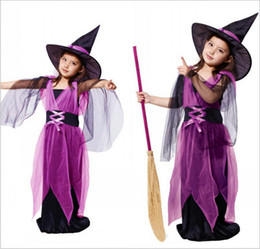 Wholesale Halloween Cosplay Children s Performance Service Stage Performance Clothes Girl Female Witches Dress