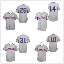 Wholesale Throwback Ron Santo Ernie Banks Billy Williams Fergie Jenkins Retro Chicago Cubs Hemp Gray Vintage Baseball Jerseys By M N