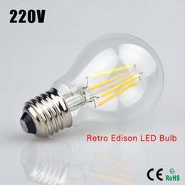 YON 10PCS High Power E27 2W 4W 6W 8W 12W 16W Chips LED Bulb Light Lamps Glass Globe Lamp Edison Filament bulb WarmWhite 110V-240V