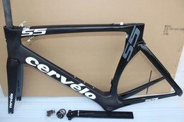 Wholesale New hot full carbon road bike frame cervelo s5 carbono Bicycle frameset BBright size cm cube frame