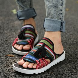 2016 new Summer slippers drag men slippers summer sandals leather sandals slip-resistant men summer shoes flat heel plus size slippers