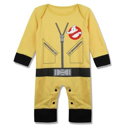 Baby Boys Girls Ghostbusters Funny Romper Jumpsuit Bodysuit Infant Halloween Cosplay Costume