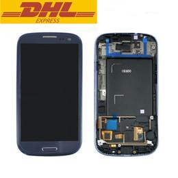 2016 écrans lcd samsung Pour Samsung Galaxy S3 i9300 LCD écran tactile numériseur assemblage avec lunette cadre cellulaire écran de remplacement de prix d'usine écrans lcd samsung ventes