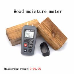 Wholesale LCD Pins Wood Industry Digital Moisture Meter Humidity Tester Timber Damp Detector Conductivity Soil Moisture Meter EMT01