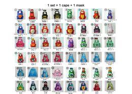 Wholesale Children Boy Costumes Christmas Cape Mask Set CM Superhero Batman Wonder Woman Star Wars Girls Kids Halloween Party Cosplay Costumes