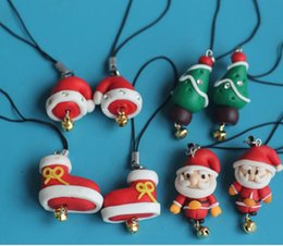 Wholesale Large Doll Heads - Santa's mobile phone accessories Christmas dolls pendant small pendant 3 centimeters a variety of mix big key buckle 5 cm head size large