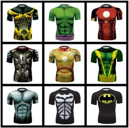 Wholesale SALE t shirts for men The Avengers Captain America breathable quick-drying short-sleeved T-shirt wholesale tights