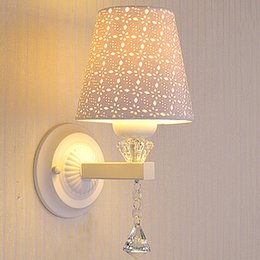AC85-265V Bedside Crystal Wall lamp Bedroom Living Room Modern Decorative Stair Wall light With Flexible LED Reading Light Free Shiping