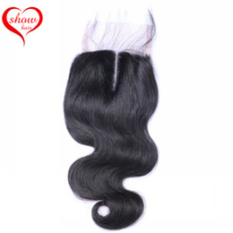 100% Brazilian Malaysian Indian Peruvian Cambodian Human Hair Top Lace Closure 8-18 inch Body Wave and Straight Lace Closure 4x4 inch