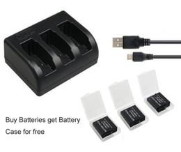 Descuento usb gopro Genérico 3x1220mAh batería AHDBT-501 AHDBT501 Bateria + 3-Ranura USB Cargador para GoPro héroe 5