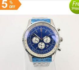 newHot Sale Brand Quartz -Watch For Men Blue Dial Fluted Case Stainless Belt Silver Skeleton 1884 Chronometer Watch Free Shipping HKpost
