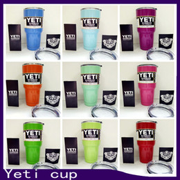 Wholesale Hot yeti cup Powder Coated oz Yeti Rambler YETI Coolers Rambler Tumbler Stainless Steel Double Walled Travel Mug YETI cup