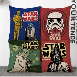 Wholesale Star Wars pillow covers style linen pillowcase Cushion for leaning on Animated cartoon pillow chair cushions
