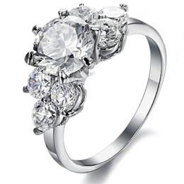 Women's titanium steel ring Three Stone Rings 2016 real hot Jewelry simple flash diamond ladies stainless steel gemstone ring