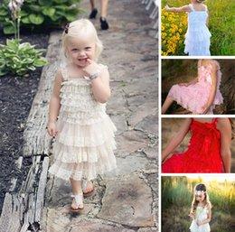 Princesse Bébé Filles Lace Robes Princesse Été Fête tutu Sundress Enfants Layered Robe Enfants Lingerie Robe Filles Vêtements Coloré à partir de dentelle en couches robe tutu enfants fournisseurs