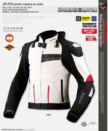 Descuento m seguridad Al por mayor-Komine de carreras de automóviles jk-015 Seguridad Ropa cortavientos chaquetas de la motocicleta montan moto off-raod ropa
