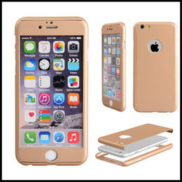 For iphoneX Case Ultra-thin 360 Degree Coverage Hard PC Cover with Tempered Glass Protector Case For iphone8 7 6splus 5S with package
