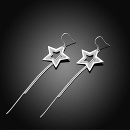 Wholesale Classic Star Women Earrings Female Stud earrings Fashion Jewelry For Girls Wedding Party Quality Jewelries Accessories Gift ER