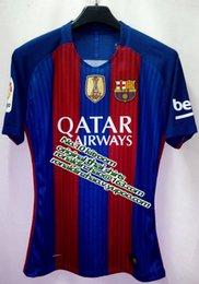 Wholesale top running jersey MSN la liga player version professional nameset print