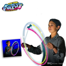Wholesale New colors mixed Combo FyrFlyz Cyclone Flywheel toys Multicolor LED Spinning Toys LED Flashing flywheel UFO Children Kids Gft Toy
