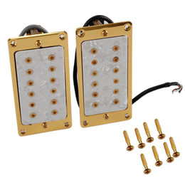 Wholesale Electric Guitar Humbucker Pickups Gold Frame White Pearl Shell