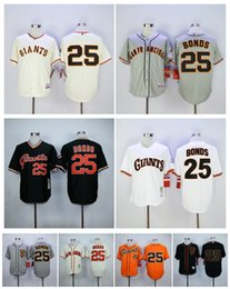 Wholesale Barry Bonds Jersey Cheap SF San Francisco Giants Barry Bonds Throwback Baseball Jersey High Quality Stitched Jerseys Embroidery Logo