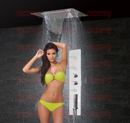 Bathroom Shower Set Accessories Faucet Panel Tap Thermostatic Mixer LED Ceiling Shower Head Rainfall Waterfall Shower jets GF5326