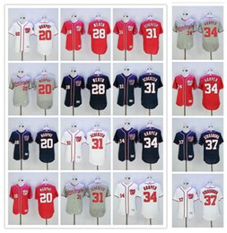 Wholesale 2016 MLB Flexbase Washington Nationals Jerseys Daniel Murphy Jayson Werth Max Scherzer Bryce Harper Stephen Strasburg Jersey Blue Red White