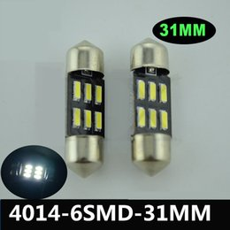 High quality 250pcs 4014 6SMD 31mm White C5W LED Reading Front Map Lights Vehicle Parts Recap Dome Festoon Lamp Bulb Glove Box lights