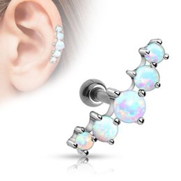 Wholesale Tragus Helix Bar Cartilage Top Upper Ear Earring Stud Labret Body Jewelry Piercing