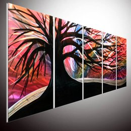 Wholesale Modern Contemporary Metal Wall Art Oil Painting Wall Art Painting on Aluminum Metal Painting Wall Art Metal Wall