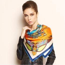 Compra Online Mejores bufandas de moda-LUJO china clásico bufandas de seda de las mujeres del diseño LUJO bufanda WRAP A ESTRENAR SOBRE 110x110cm SÚPER bufanda de la manera mejor regalo! MANTONES WRAP