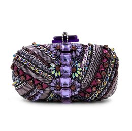 Wholesale The new range of European and American high end ladies diamond beaded evening bag package handbag