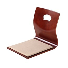 Wholesale Cheap Chair For Japanese Living Room Furniture Fan Shape Style Floor Tatami Zasiu Legless Chair Color Meditation Backrest Chair