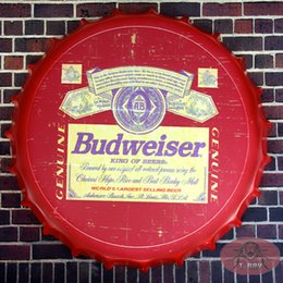 Vintage Round Tin Sign Beer cover Beer Sign Bar pub home Wall Decor Retro Metal Art Poster(42cm,RD-88)