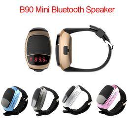 Wholesale B90 Mini Bluetooth Speaker Smart Watch Speaker Wireless Subwoofers Speaker With Screen Support TF FM USB