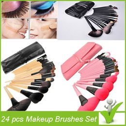 Wholesale Professional Makeup Brushes Set Cosmetic Kits Makeup Tools Makeup Brush with leather bag brushes make up for you Best Gift