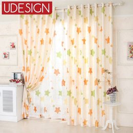 Wholesale Sheers Curtains Cheap - Star Window Curtains for Living Room Bedroom Kitchen Cheap Living Room Curtains for Kids Ready Made Sheer Voile Tulle Curtains
